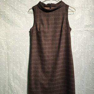 Axara Paris brown plaid dress